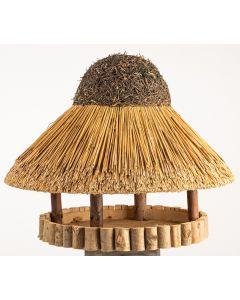 rundes Vogelhaus Sylt mit Reetdach - groß