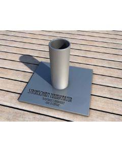 Zubehör Strohschirm Bodenplatte (Stahl unbehandelt)