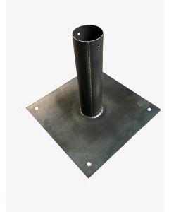 Zubehör Strohschirm Bodenplatte inkl. Verankerungspunkte (Stahl unbehandelt)
